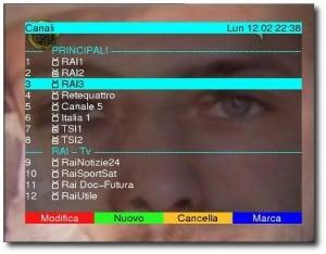 lista canali digitale terrestre