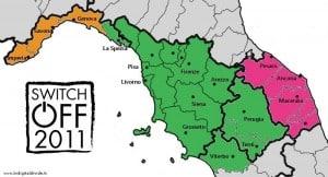 mappa switch-off 2011 digitale terrestre