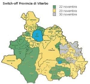 mappa switch-off digitale terrestre viterbo