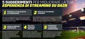 guida dazn streaming app tv