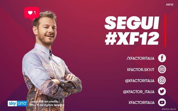 x factor 12 in tv e streaming sky