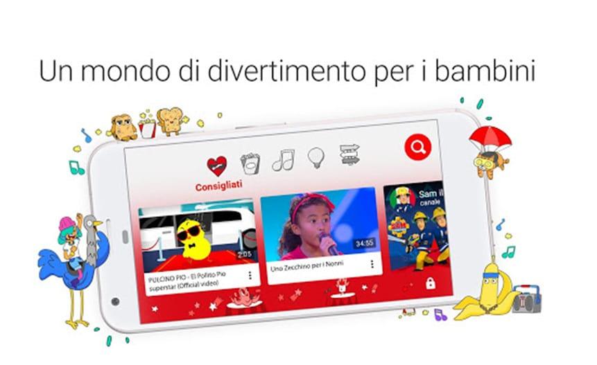youtube kids italia app smarthpone