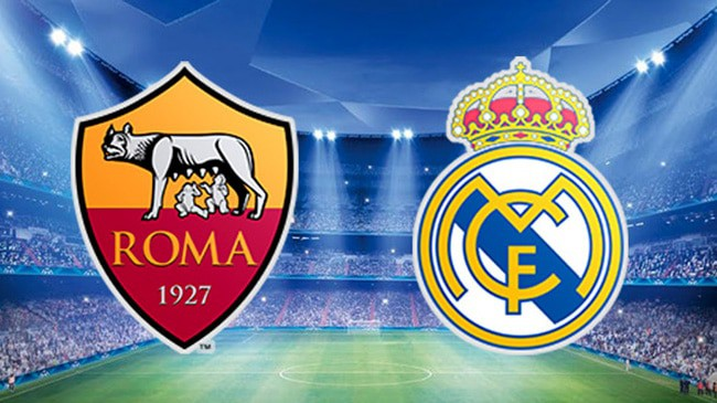 roma real madrid in streaming
