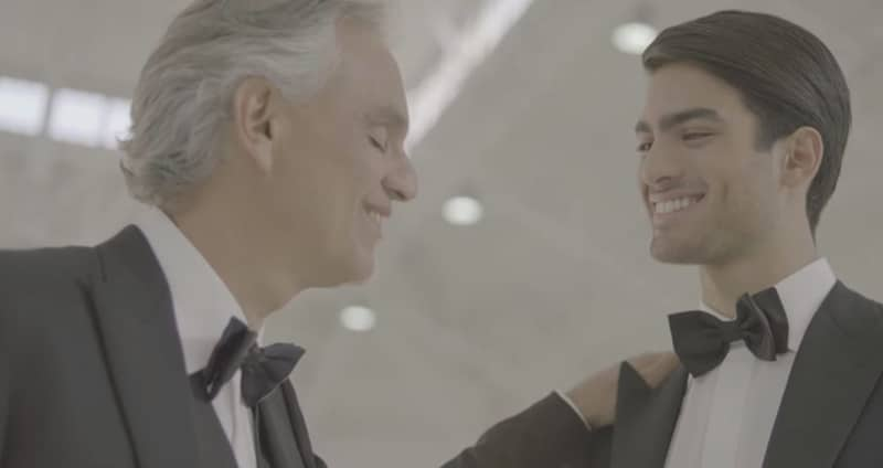 Ospiti Sanremo 2019 Andrea Bocelli e figlio