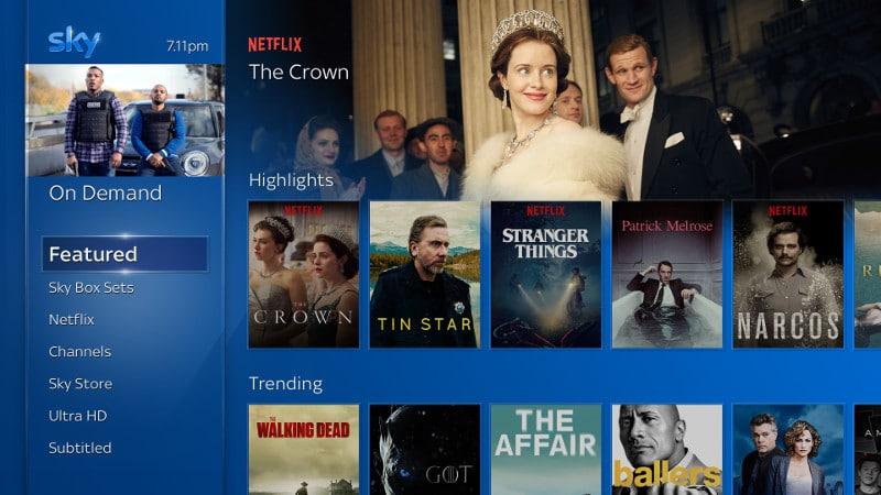 Netflix su Sky Q