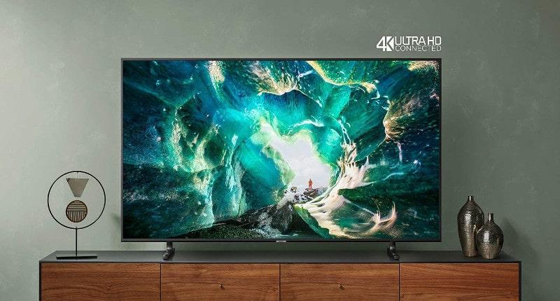 """Samsung UE82RU8000U Smart TV 4K Ultra HD 82"""" Wi-Fi, Serie RU8000, 3840 x 2160 Pixels, Nero, 2019"""