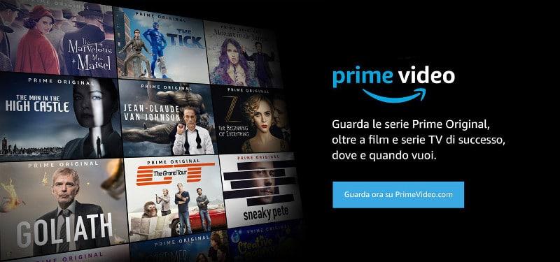amazon prime video costo film serie tv app