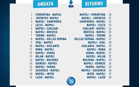 Calendario NapolI Serie A 2020-21