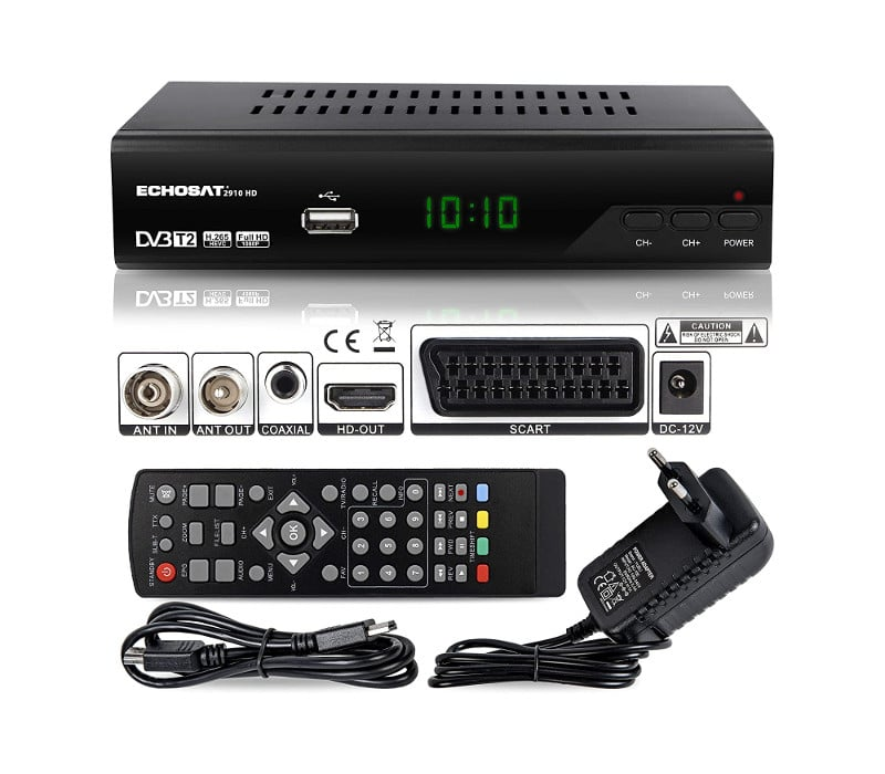 Echosat 2910 DVBT2 Ricevitore Full HD 1080P 4K
