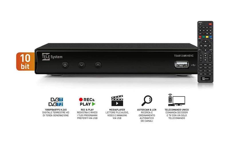 telesystem TS6813 DVB-T2 HEVC 10bit