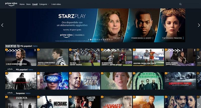 amazon prime video channles costo catalogo